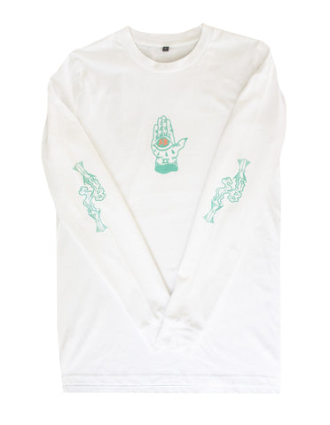 Salty Banditos 'El Diablo - White' Long sleeve Tee