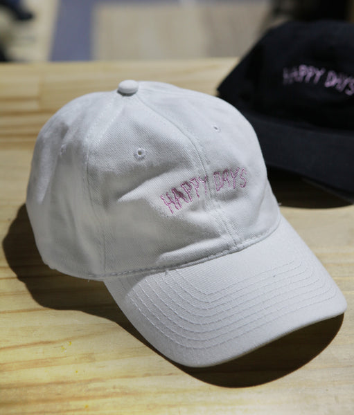 Wanderers Co 'Happy Days Crap Cap - White/Pink' Cap
