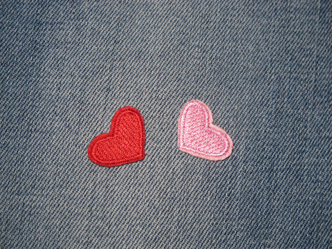 Patch & Pin 'Heart - Mini Red & Pink Set' Patch