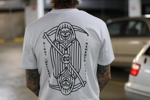 Night Dwellers 'Memento Mori - White' Tee