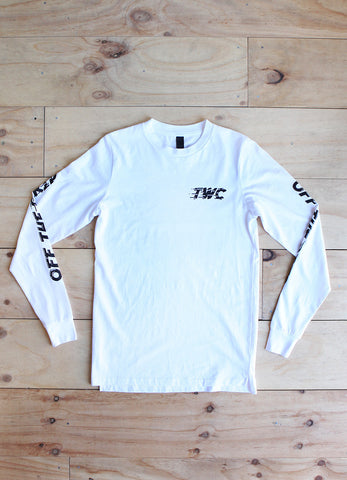 Wanderers Co - Wanderers Co 'Off The Grid - White' Longsleeve - T-Shirt - Longsleeve - Stock & Supply Stores