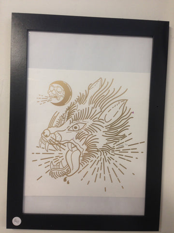 Mitch Chadban - Mitch Chadban 'Gold Wolf' A4 Print - Prints - Stock & Supply Stores