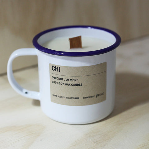 Posie - Posie 'Chi' Soy Candle Enamel Mug Candle - Candles - Stock & Supply Stores