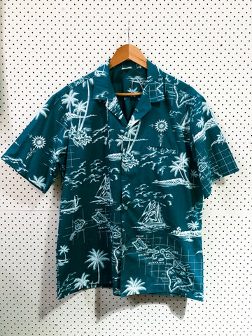 Vintage & Preloved 'Royal Hawaii' Button Up Shirt