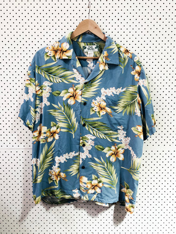 Vintage & Preloved 'Two Palms' Button Up Shirt