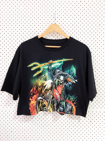 Vintage & Preloved 'Metal' Crop