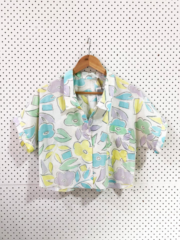 Vintage & Preloved 'Boris' Button Up Women's Shirt