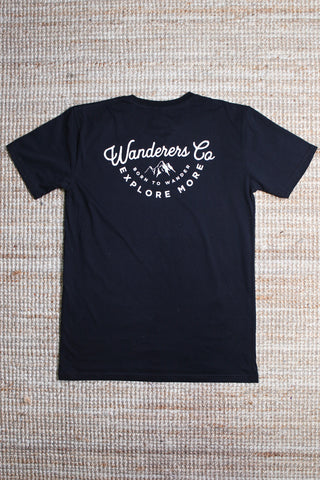 Wanderers Co 'Explore More - Black' Tee