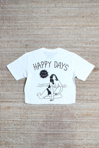 Wanderers Co 'Happy Days - White' Crop