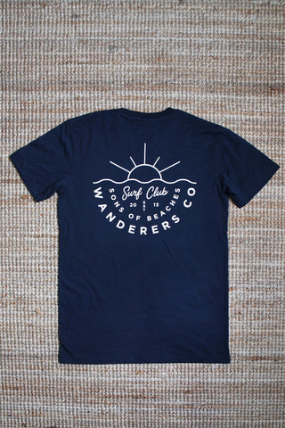 Wanderers Co 'Surf Club - Navy' Tee