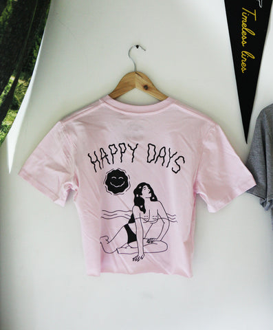 Wanderers Co 'Happy Days - Pink' Crop