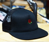 Hard Luck Club 'Rose - Black' Mesh Trucker