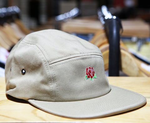 Hard Luck Club 'Rose - Khaki' 5-Panel Cap