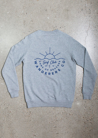 Wanderers Co 'Surf Club - Grey' Crew