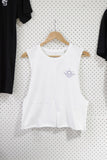 Wanderers Co 'Surf Club - White' Crop Singlet