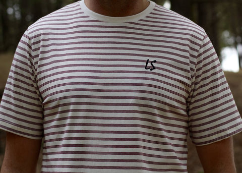 Lazy Sundae 'Embroided Stripe' Tee