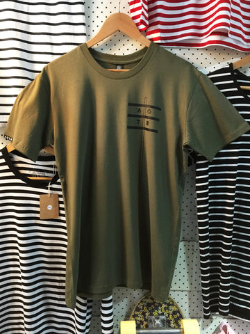 A.O.T.R 'Big Cross - Army Green' Tee