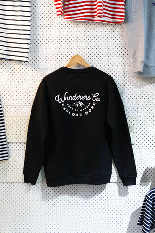 Wanderers Co 'Explore More - Black' Crew