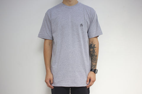 Oli Clothing - Oli Clothing 'Script Logo - Grey' Tee - LAST ONE!!! - T-Shirt - Stock & Supply Stores