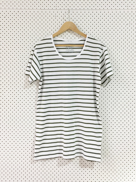 Wanderers Co 'Horizon Stripe - White/Green' Tee