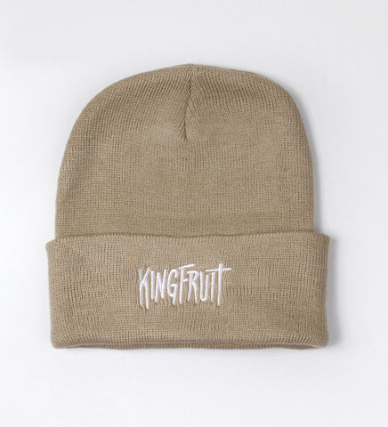Kingfruit Apparel 'Logo - Khaki' Beanie