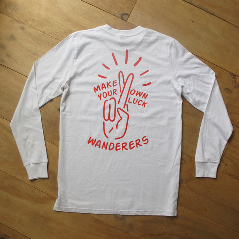 Wanderers Co 'Lucky - White' Longsleeve