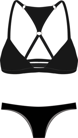 Snorkelbear Swimwear - Snorkelbear 'McClane - Black' Bikini - Women's Swimsuits - Stock & Supply Stores