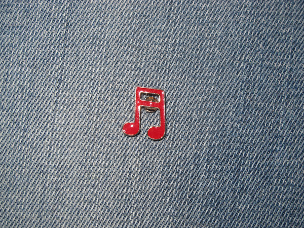 Patch & Pin 'Music Note - Red' Badge Pin