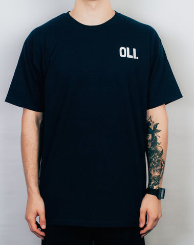 Oli Clothing - Oli Clothing 'Block Logo - Navy' Tee - T-Shirt - Stock & Supply Stores