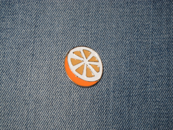 Patch & Pin 'Orange Slice' Badge Pin