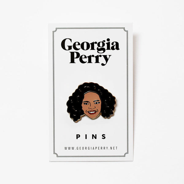 Georgia Perry - Georgia Perry 'Oprah' Enamel Pin - Patches & Pins - Stock & Supply Stores