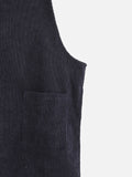 Wanderers Co 'Corduroy - Black' Pinafore Dress