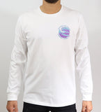 Kingfruit Apparel - Kingfruit Apparel 'Paradise Pipe Dreams - White' Longsleeve Tee - T-Shirt - Stock & Supply Stores