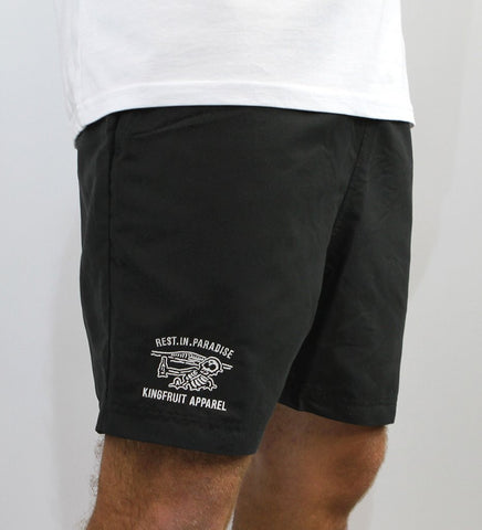 Kingfruit 'R.I.P - Black' Board Shorts