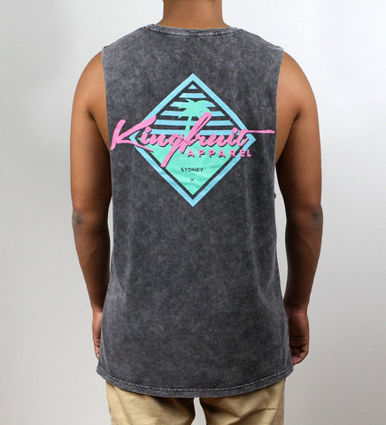 Kingfruit 'Palm - Stonewash' Muscle Tee