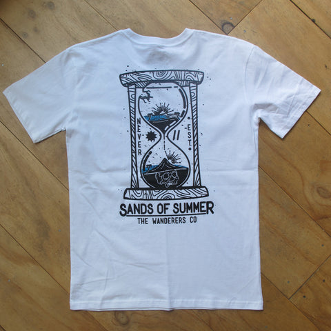 Wanderers Co 'Sands Of Summer - White' Tee