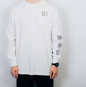 Oli Clothing - Oli Clothing 'Floral - White' Longsleeve - T-Shirt - Longsleeve - Stock & Supply Stores