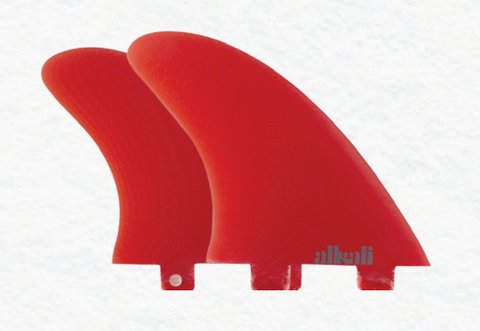Alkali - Alkali 'Quad Standard Tab - Red' Fins - Surfboard Fins - Stock & Supply Stores