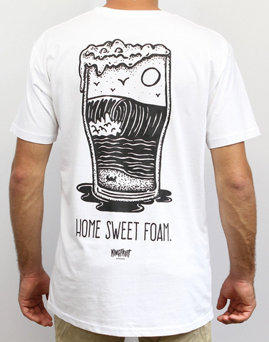 Kingfruit 'Home Sweet Foam - White' Tee