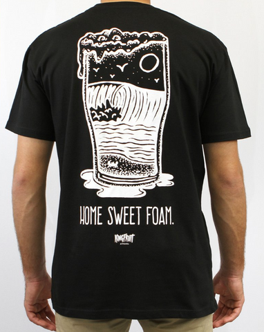 Kingfruit 'Home Sweet Foam - Black' Tee