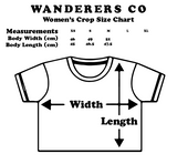 Wanderers Co 'Waves not Graves V3 - White' Crop