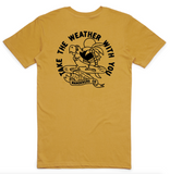 Wanderers Co 'Take the Weather - Mustard' Tee