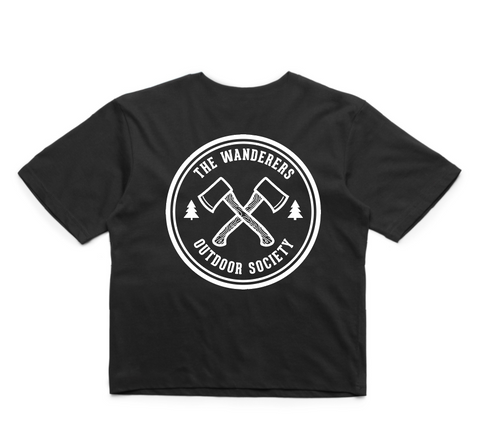 Wanderers Co 'Outdoor Society - Black' Crop