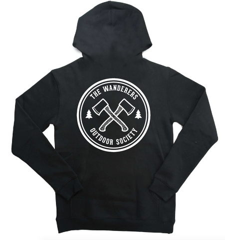 Wanderers Co 'Outdoor Society - Black' Hoodie