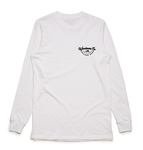 Wanderers Co 'Explore More - White' Longsleeve Tee