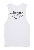 Wanderers Co 'Explore More - White' Muscle Tee