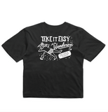Wanderers Co 'Take it Easy' Crop - Black
