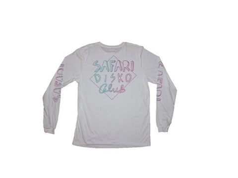 Safari Disko Club 'Rainbow Safari - White' Longsleeve