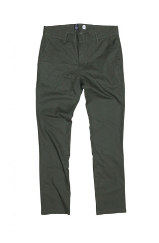 Wanderers Co - Wanderers Co 'Chino' Pants Army Green - Chino - Stock & Supply Stores