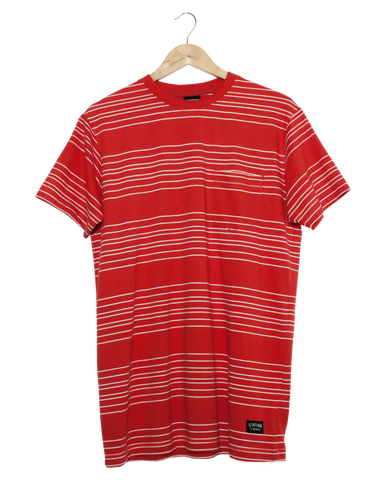 Station Stripes 'Disaster - Red/White' Tee